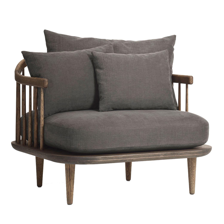 tradition Fly fauteuil SC1 onderstel gerookt eiken bekleding Hot Madison 093