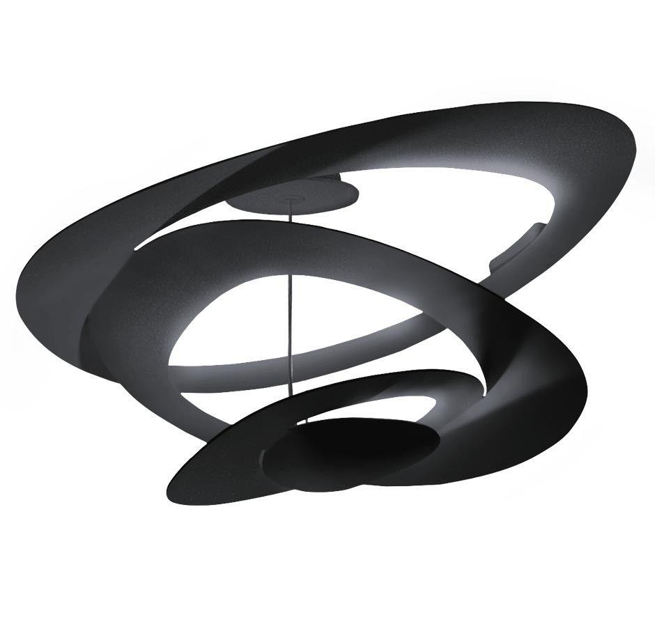 Artemide Pirce Soffitto plafondlamp LED zwart 3000K