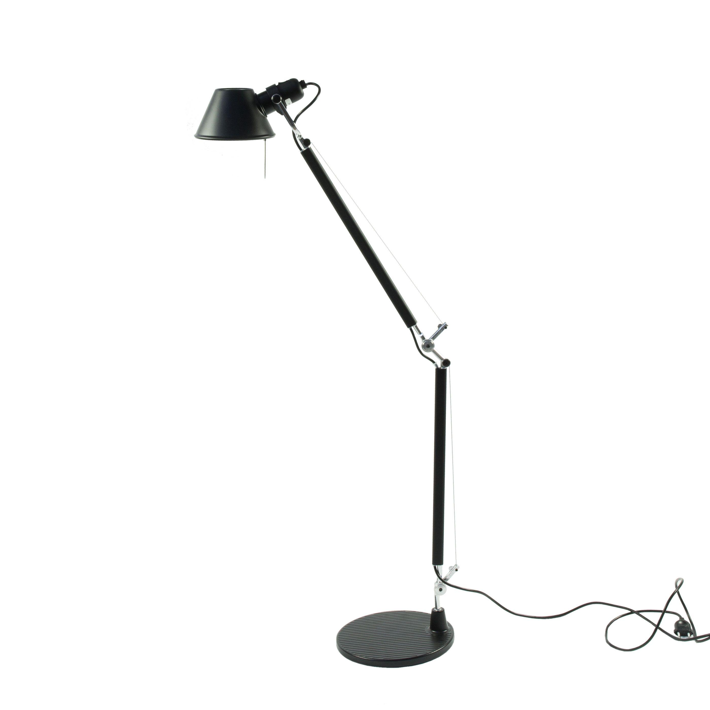 Artemide Tolomeo bureaulamp Halo armatuur zwart