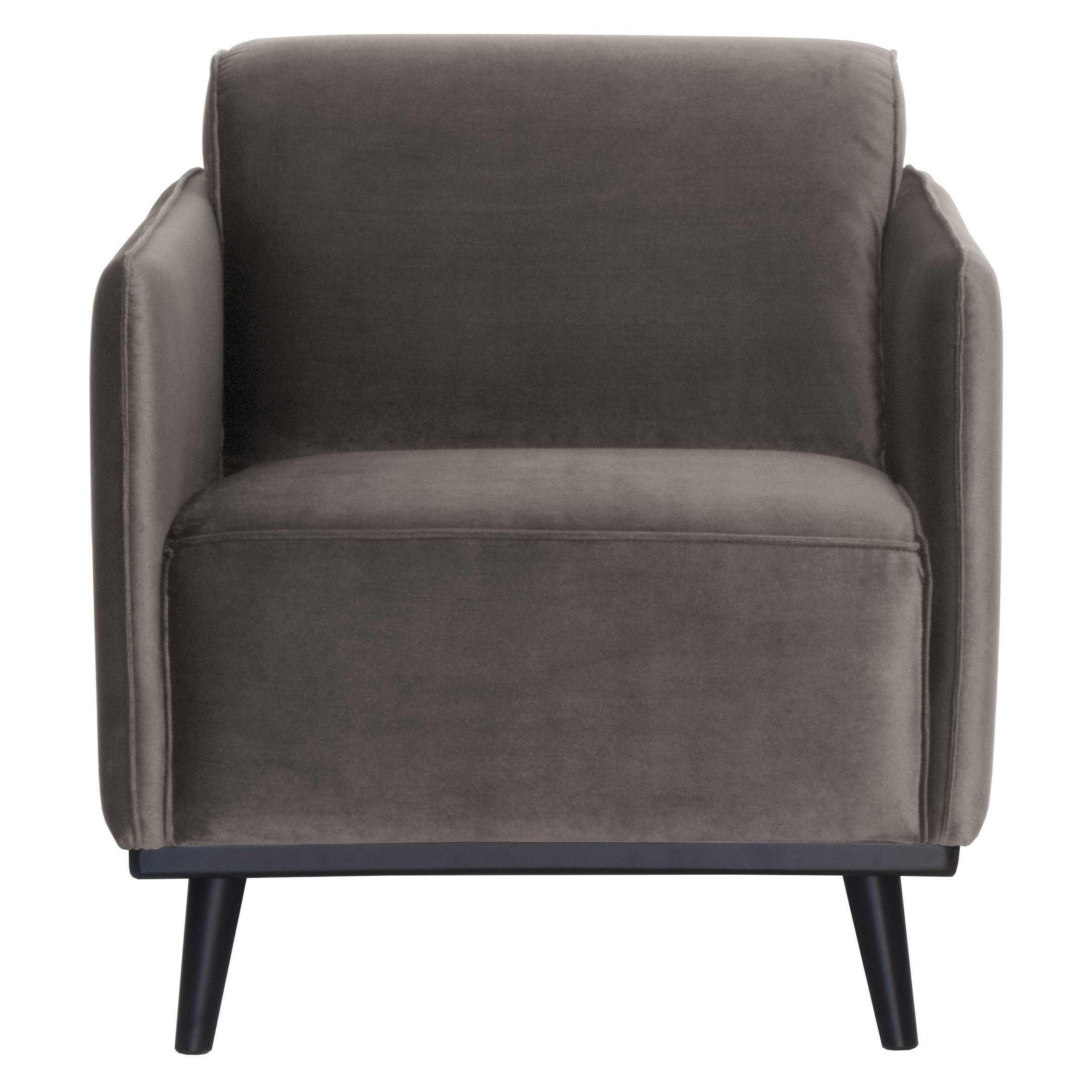 BePureHome Statement fauteuil met arm velvet Taupe