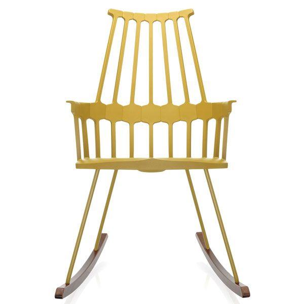 Kartell Comback Rocking schommelstoel geel kopen