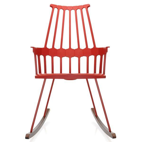 Kartell Comback Rocking schommelstoel oranjerood kopen