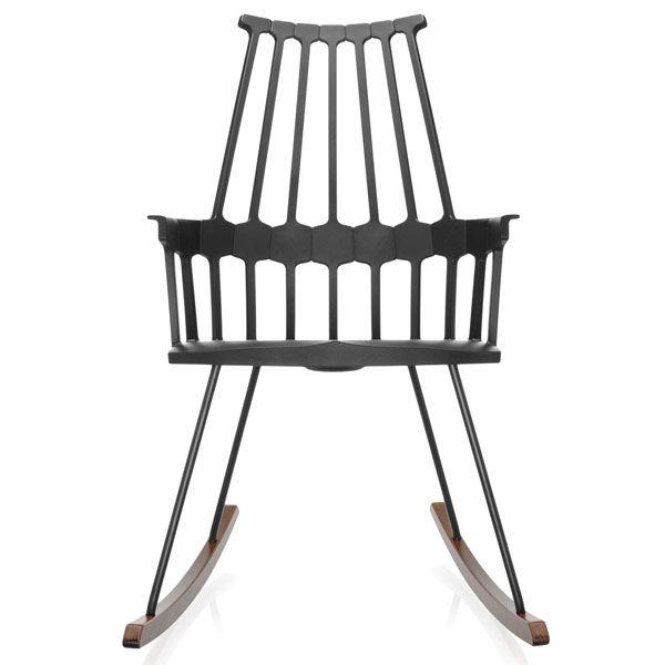Kartell Comback Rocking schommelstoel zwart kopen
