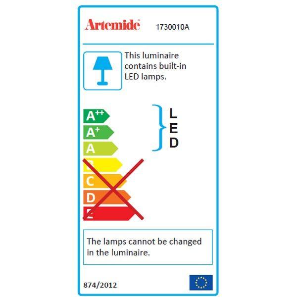Artemide Demetra Faretto wandlamp LED zonder schakelaar 3000K - zacht wit