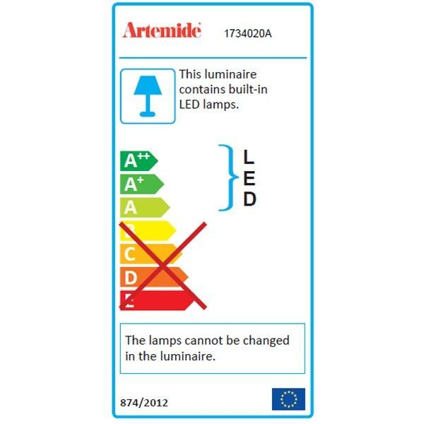 Artemide Demetra bureaulamp LED wit 2700K - warm wit