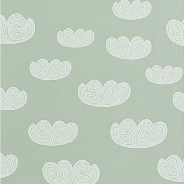 Ferm Living Cloud behang mint