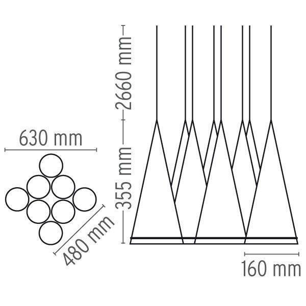 Flos Fucsia 8 hanglamp
