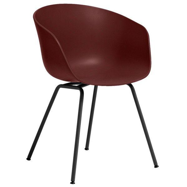Hay Outlet - About a Chair AAC26 stoel met zwart onderstel Brick