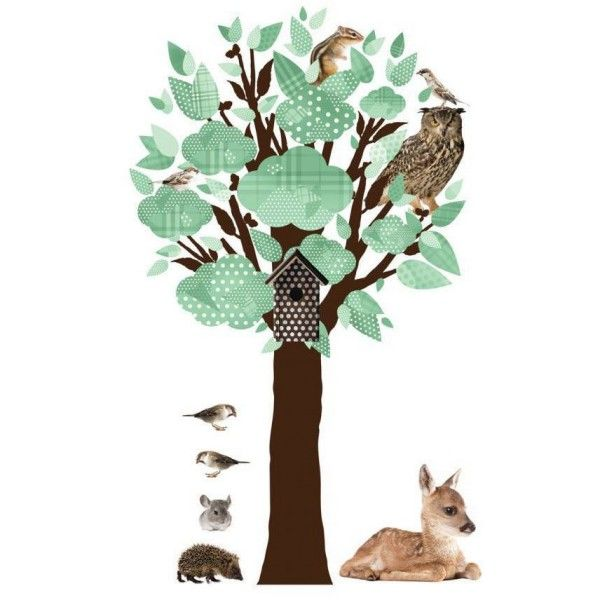 KEK Amsterdam Forest Friends Tree muursticker