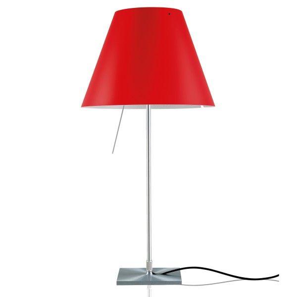 Luceplan Costanza tafellamp met aan-/uitschakelaar aluminium