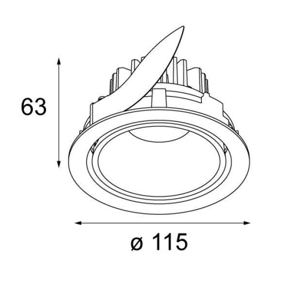 Modular Smart Lotis 115 richtbare inbouw spot LED