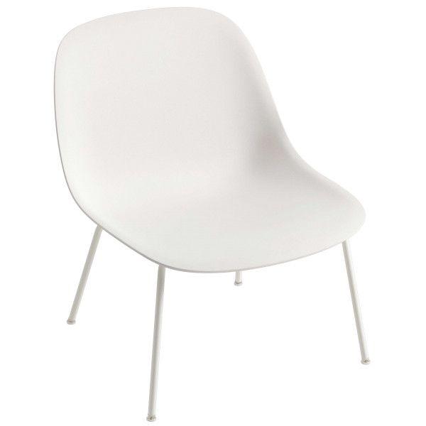 Muuto Fiber Lounge chair met tube onderstel