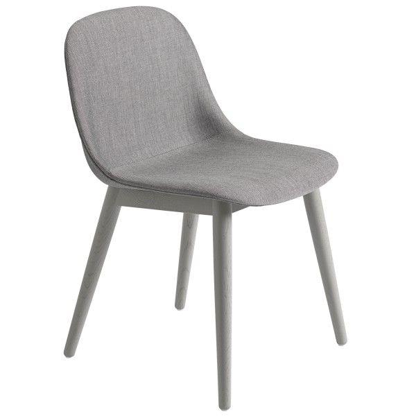 Muuto Fiber Side Wood gestoffeerde stoel