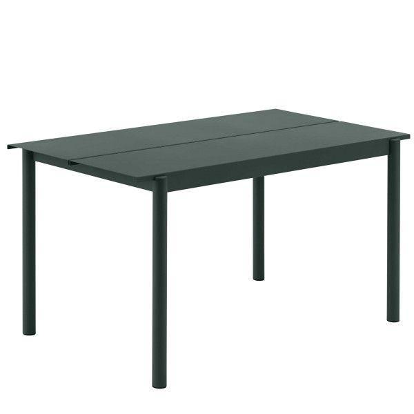 Muuto Linear tafel donkergroen 140x75