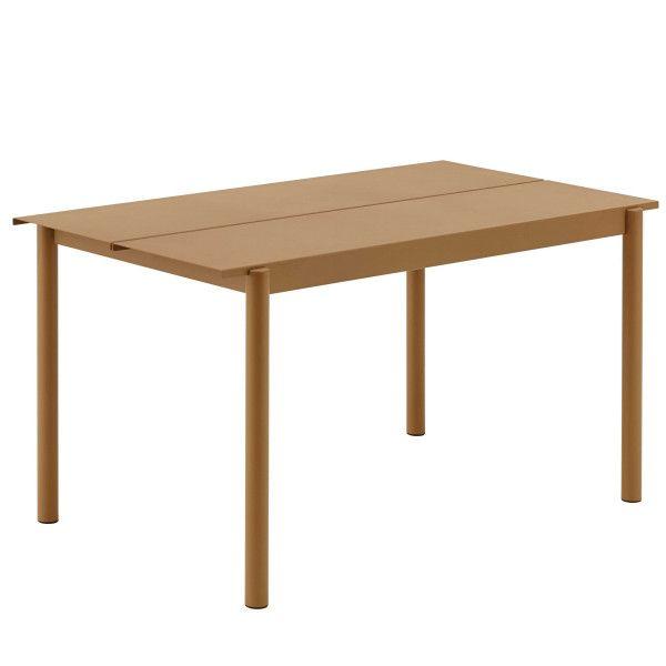 Muuto Linear tafel oranje 140x75