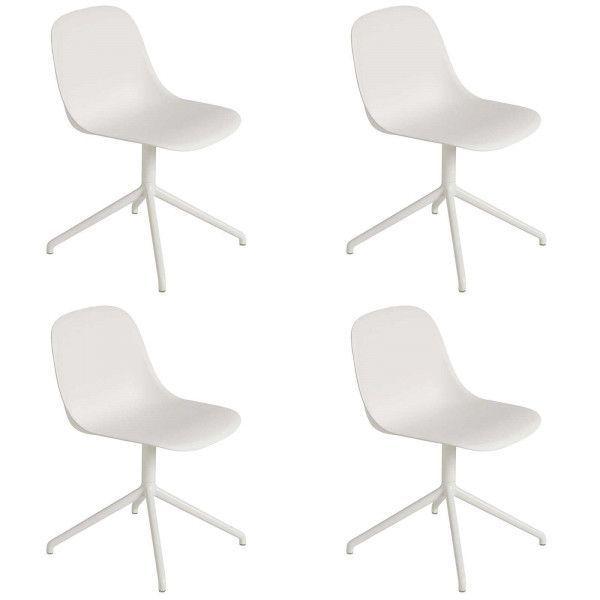 Muuto Set aanbieding Fiber Side Swivel stoel (4x)
