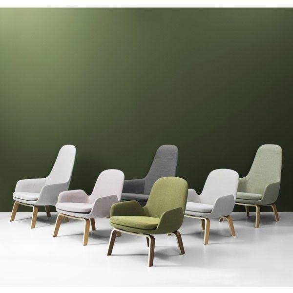 Normann Copenhagen Era Lounge Chair High loungestoel met eiken onderstel