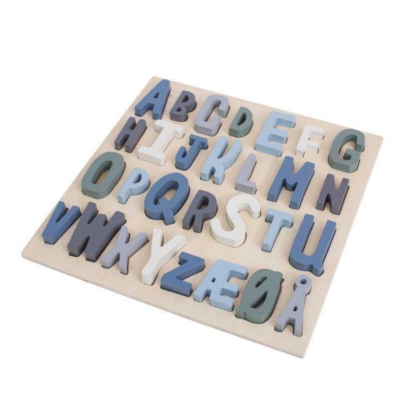 Sebra ABC houten puzzel blauw