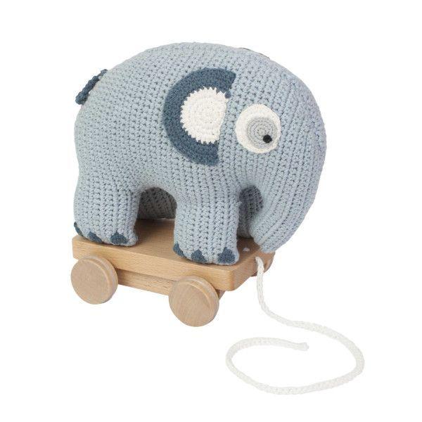Sebra Fanto the Elephant trek olifant gehaakt speelgoed