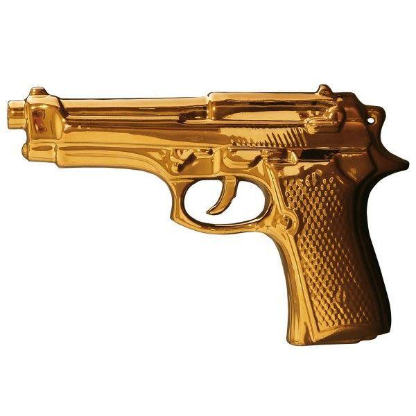 Seletti My Gun Gold Edition woondecoratie