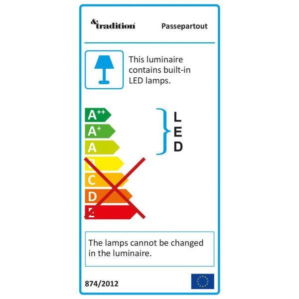 &tradition Passepartout JH11 plafondlamp LED