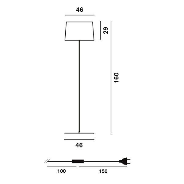 Foscarini Twiggy Lettura vloerlamp