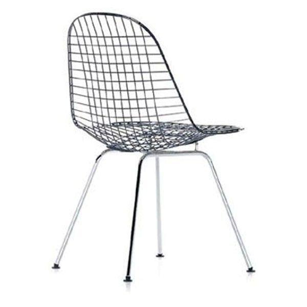 Vitra Eames Wire Chair DKX stoel verchroomd