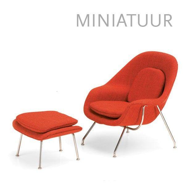 Vitra Womb Chair & Ottoman miniatuur