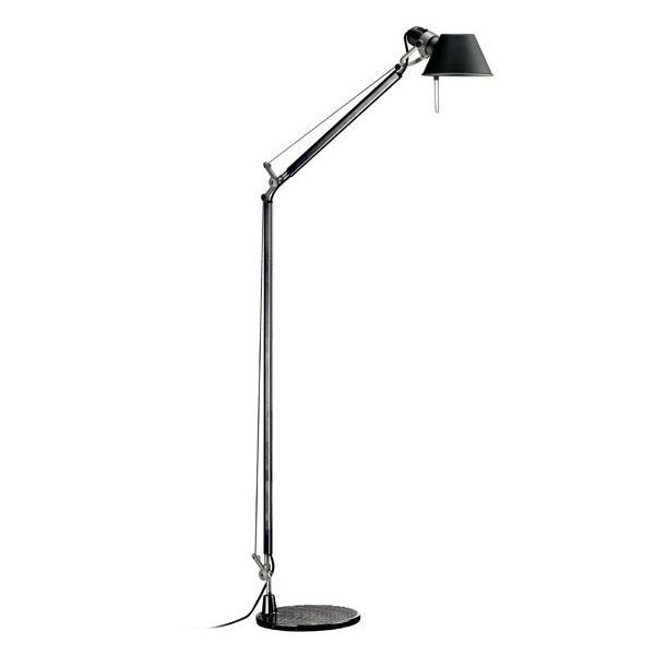 Artemide Tolomeo Vloerlamp.Artemide Tolomeo Lettura Vloerlamp Met Zwarte Voet