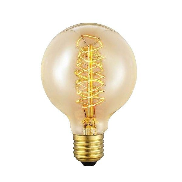 Het Lichtlab Kooldraad Globe lichtbron E27 80mm 40W