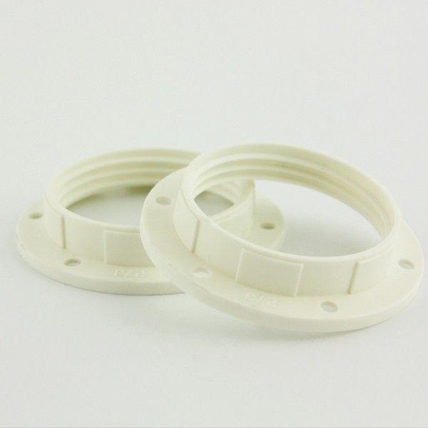 Snoerboer Ring voor witte fitting E27 met buitendraad