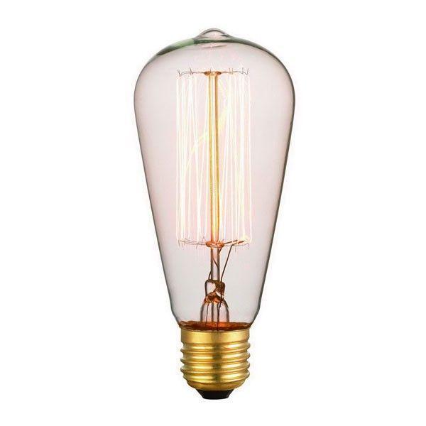Snoerboer Kooldraad Klassiek buislamp E27 64mm 40W rustiek helder