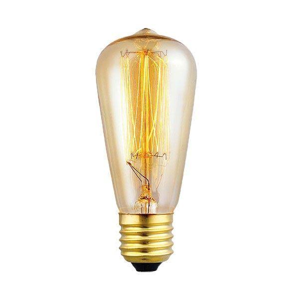 Snoerboer Kooldraad Klassieke buislamp E27 64mm 40W rustiek goldline