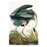 KEK Amsterdam Heron In Grass houten wandpaneel