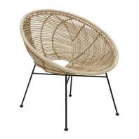 HKliving Rattan Ball fauteuil
