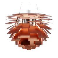 Louis Poulsen Artichoke 48 hanglamp gegraveerd koper rose