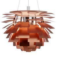 Louis Poulsen Artichoke 60 hanglamp gegraveerd koper rose