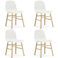 Normann Copenhagen Set aanbieding Form Oak stoel (4x)
