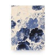 KEK Amsterdam Royal Blue Flowers 3 wandpaneel hout