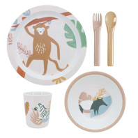 Sebra Wildlife Sunset Melamine eetsetje