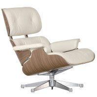 Vitra Eames Lounge chair fauteuil (nieuwe afmetingen) sneeuwwit