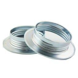 Snoerboer Ring voor metaal fitting E27 met buitendraad