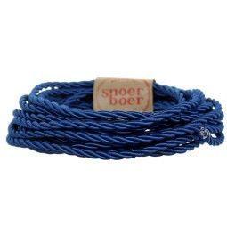 Snoerboer Torcido blauw textielsnoer 1 meter