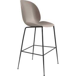 Gubi Beetle Chair barkruk 75cm met zwart onderstel