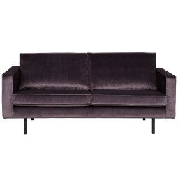 BePureHome Outlet - Rodeo Velvet bank 2,5-zits grijs