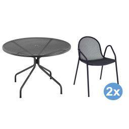 Emu Cambi Round tuinset 120 tafel + 2 stoelen (armchair)