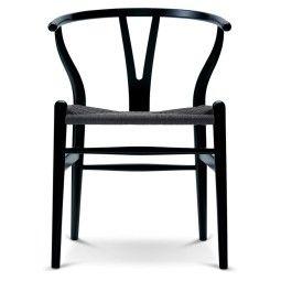 Carl Hansen & Son CH24 Wishbone stoel Colours Black Paper Cord