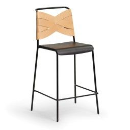 Design House Stockholm Outlet - Torso barkruk 65cm zwart/naturel