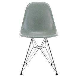 Vitra Eames DSR Fiberglass stoel met verchroomd onderstel