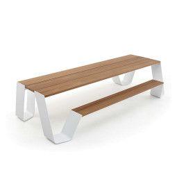 Extremis Hopper picknickset 360cm met Wit onderstel